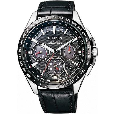 CITIZEN星辰 光動能GPS衛星對時鈦計時腕錶(CC9015-03E)-黑/43.5m @ Y!購物