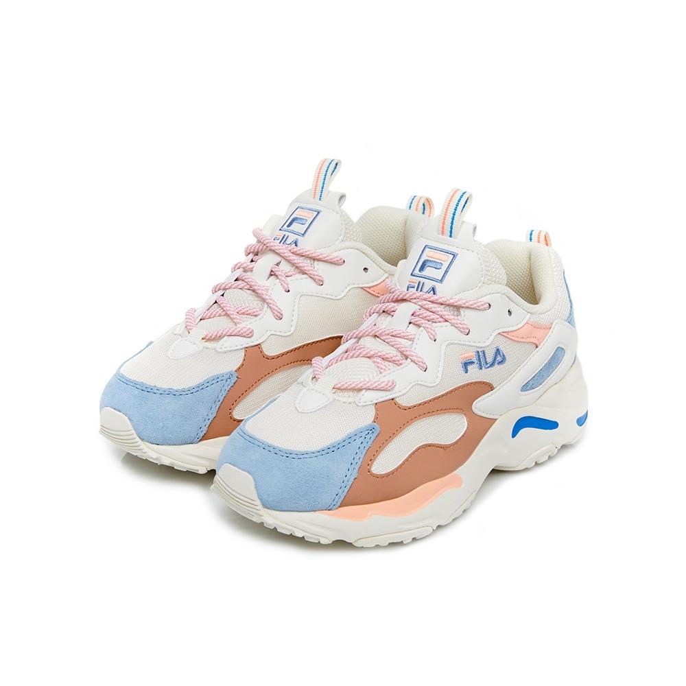 FILA RAY TRACER 中性運動鞋-粉藍 4-C103V-149