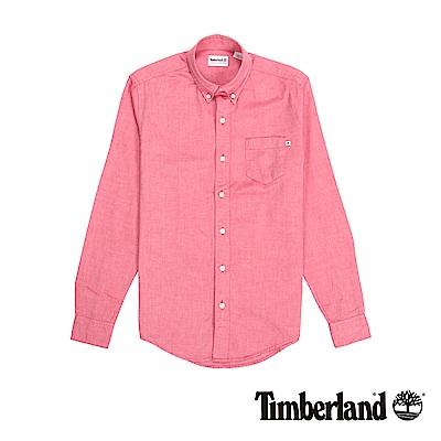 Timberland 男款紅色修身版襯衫