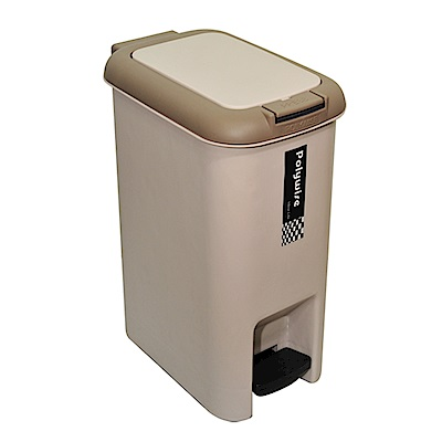 創意達人二用腳踏式垃圾桶25L-1入組