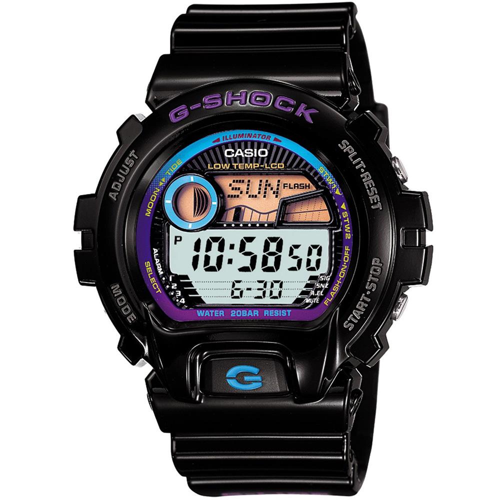 G-SHOCK 沙灘風情陽光型男休閒錶(GLX-6900-1)-黑/50mm