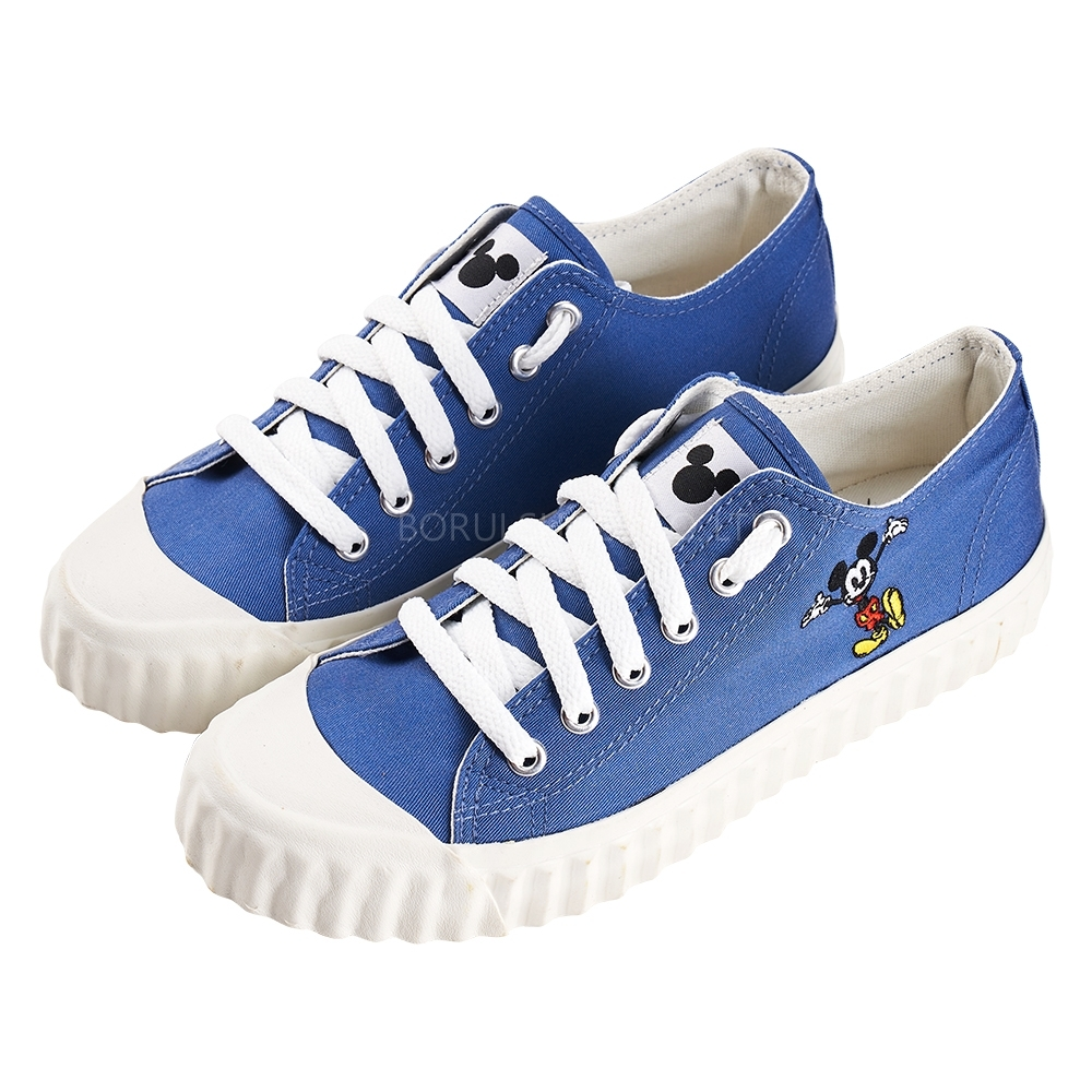 迪士尼親子鞋 米奇 造型帆布休閒鞋-藍