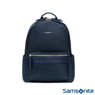 Samsonite新秀麗 LEIA防潑耐磨輕量女用筆電後背包 (海軍藍)