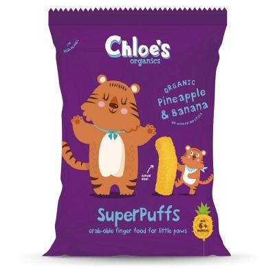英國進口 Chloe s 克蘿伊有機幼兒胖牙餅(鳳梨香蕉) 20g/包