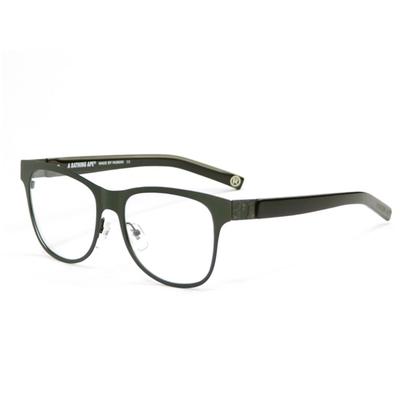 【BAPE 猿人】A Bathing Ape 金屬黑印紋款光學眼鏡 BA13024 GN-(無盒版)