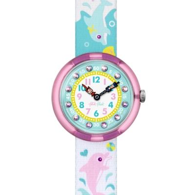 FlikFlak 兒童錶 SPLASHY DOLPHINS 躍動海豚-31.85mm