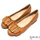 DIANA經典穿孔大方釦寬繞帶休閒鞋-復古原色-棕 product thumbnail 1