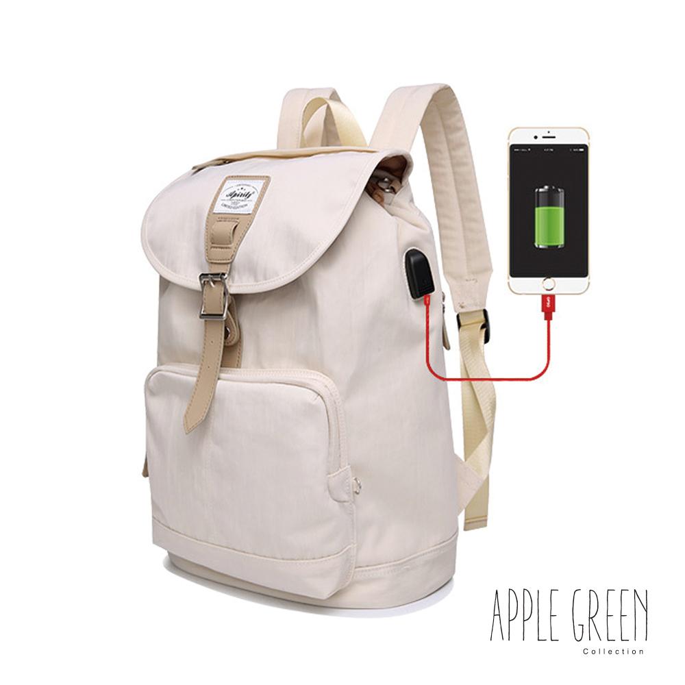 Apple Green 城市輕旅14 電腦後背包(米白)