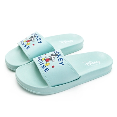 DISNEY可愛歡樂米奇休閒拖鞋-綠-DW6163DD