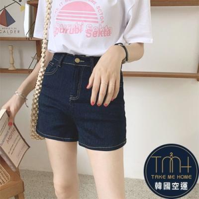 韓國空運 車線直筒牛仔短褲-TMH