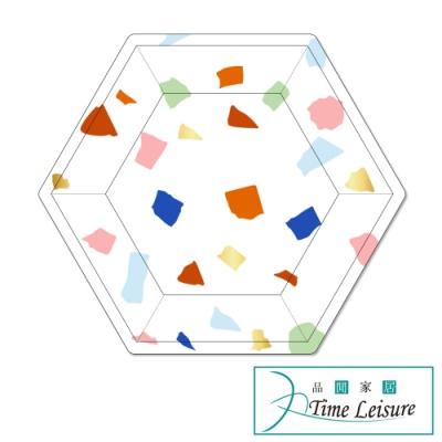 Time Leisure 燙金彩色點點生日派對烤肉紙盤組(9吋/8入)