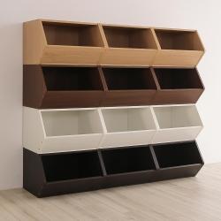 樂嫚妮 DIY 日式 收納櫃/置物櫃/玩具櫃-純白色3入組-42X28.2X27.6cm