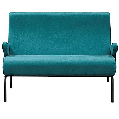 文創集 波賽特時尚絲絨布二人座沙發椅-120x80x91cm免組