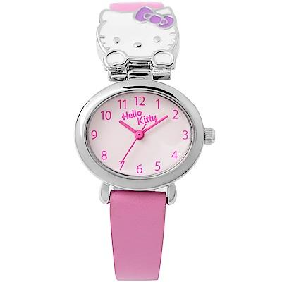 HELLO KITTY 可愛立體貓頭手錶 粉紅/27mm