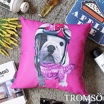 TROMSO 品味英倫棉麻抱枕-騎士法鬥