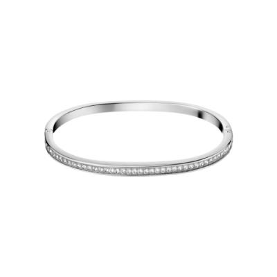 CALVIN KLEIN hook 系列 窄版經典水鑽款封閉式手環