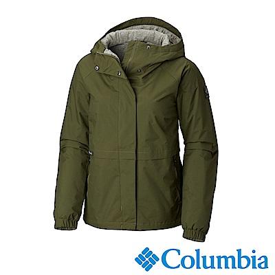 Columbia哥倫比亞 女款-Omni-TECH 防水透氣連帽外套-棕綠