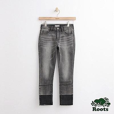 Roots-女裝-DENIM九分小直筒褲灰