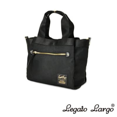 Legato Largo Lieto 高密度尼龍多收納手提斜背兩用包 黑色