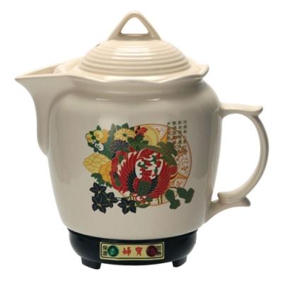 金婦寶3.8L彩繪白瓷陶瓷煎藥燉補電壺