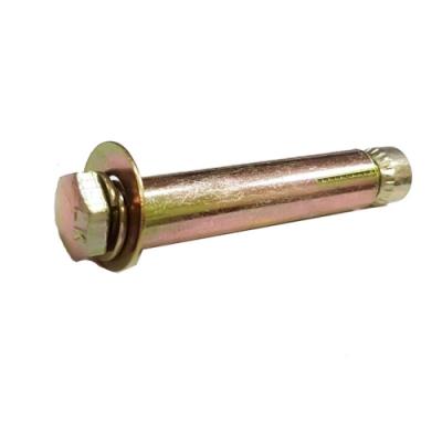 R2 10入 2分半 5/16 x 3英寸 鍍鋅 平頭膨脹螺絲 固定螺絲 螺帽露出