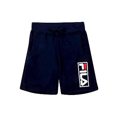 FILA KIDS #漢城企劃 童 針織短褲-丈青 1SHT-4414-NV
