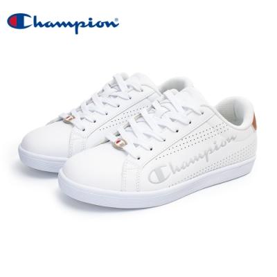 【Champion】COURT PUNCHING 運動休閒鞋 女鞋-白/金(WFUS-0009-08)