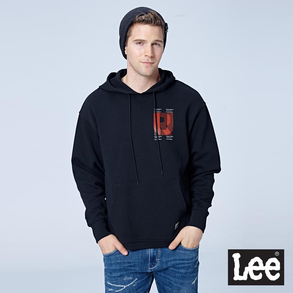 Lee UR連帽刷毛厚TEE/UR-黑色