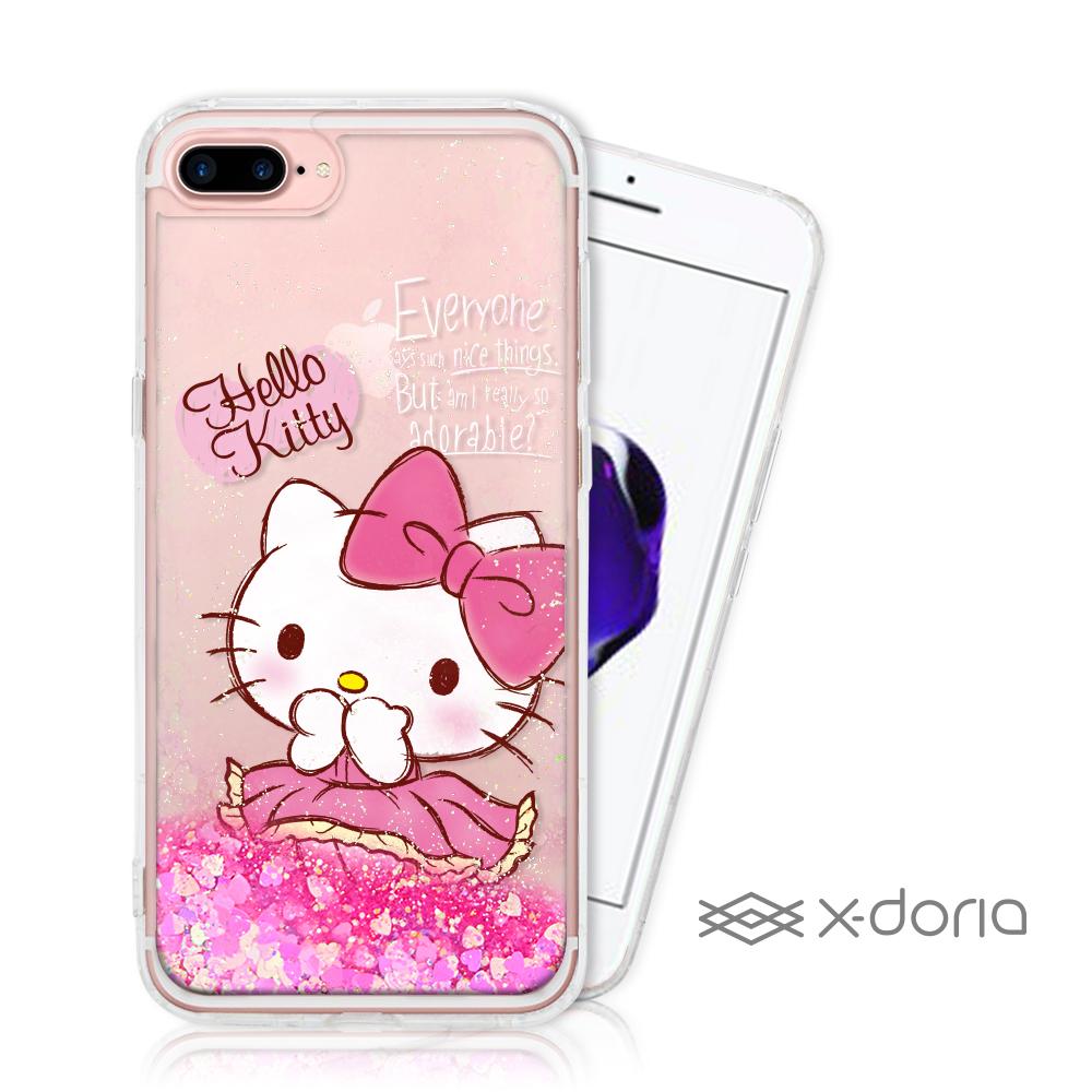 Hello Kitty iPhone 7/8 Plus 亮片流沙手機軟殼 - 俏皮 @ Y!購物