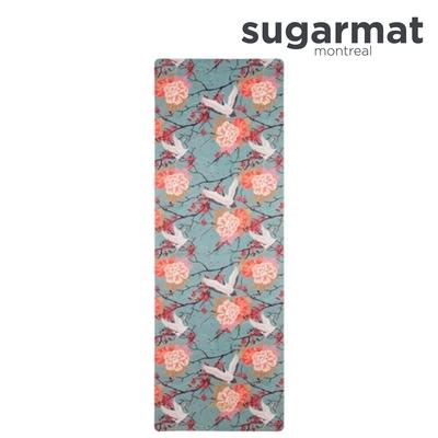 加拿大Sugarmat  麂皮絨天然橡膠瑜珈墊(3.0mm) 櫻花舞鶴 Cranes On Cherry