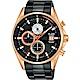 ALBA雅柏 年輕世代計時手錶(AM3598X1)-黑x玫塊金/43mm product thumbnail 1