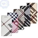 亞古奇 Apple iPhone 7/ iPhone 8 共用 英倫格紋氣質手機皮套
