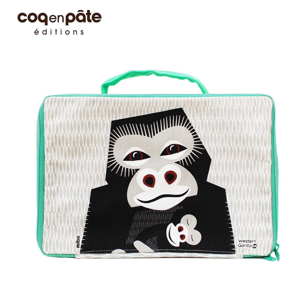 【COQENPATE】法國有機棉布包-方方兒拎出門- 大猩猩