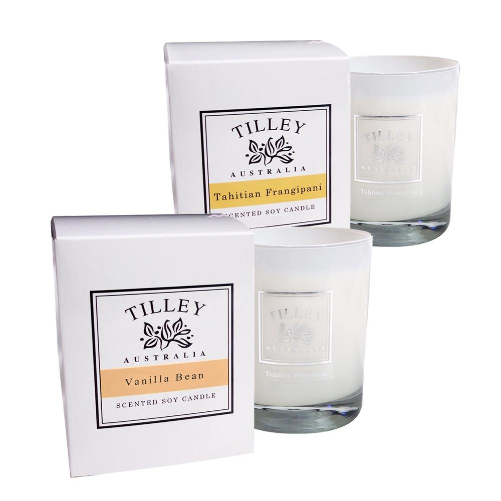 Tilley百年特莉 香草+赤素馨香氛大豆蠟燭 240gx2