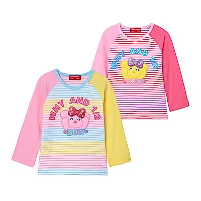 WHY AND 1/2 mini 條紋棉質萊卡T恤 1Y~4Y 多色可選