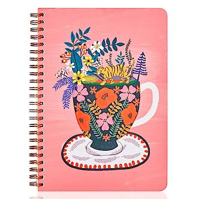 7321 Design Mia金色環裝筆記本-小叢林花瓶