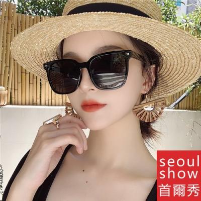 seoul show首爾秀 輕量男女經典款方形復古太陽眼鏡UV400墨鏡 8017