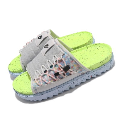Nike 拖鞋 Asuna Crater Slide 男女鞋 輕便 舒適 簡約 套腳 情侶穿搭 灰 彩 DJ4629001