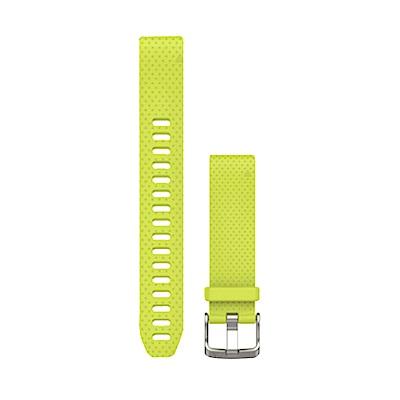 GARMIN QUICKFIT 20mm 黃矽膠錶帶(長)