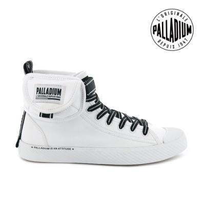 PALLADIUM PALLAPHOENIX 高筒帆布鞋-女-白