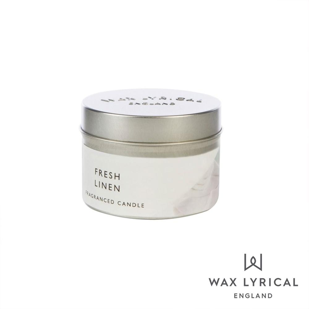 英國 Wax Lyrical 英式經典系列香氛蠟燭 清新亞麻 Fresh Linen 84g