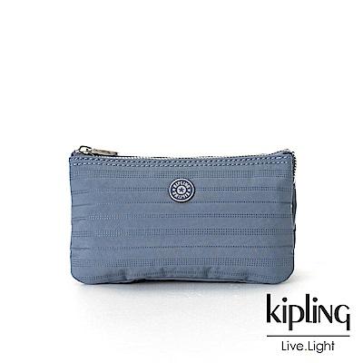 Kipling低調藍素面配件零錢包(大)