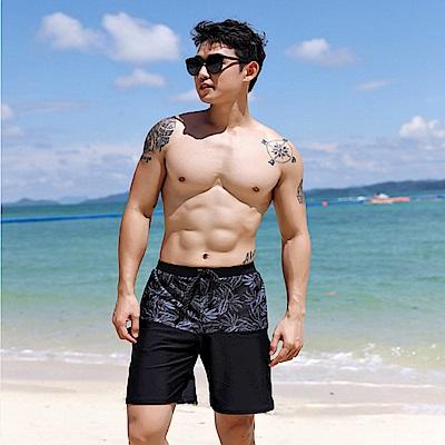 Biki比基尼妮泳衣  明朗五分海灘褲男泳褲(M-XL)
