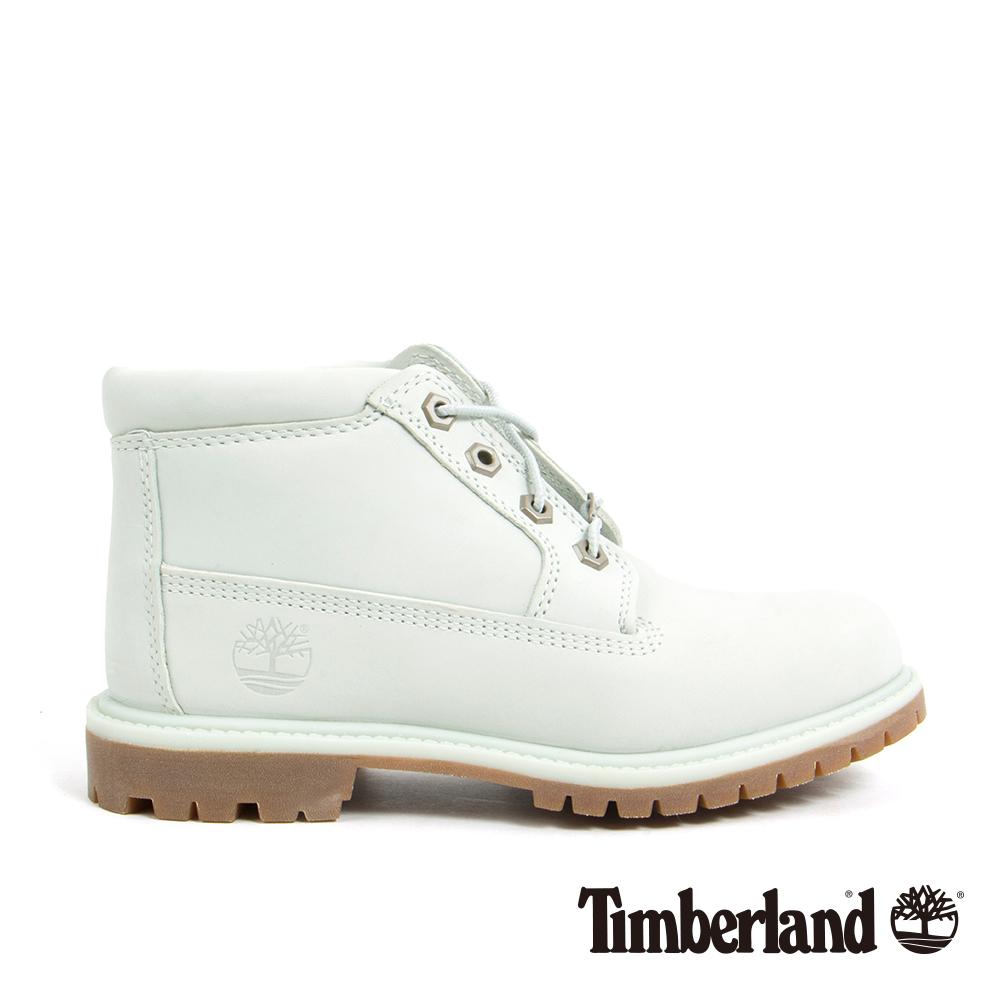 Timberland 女款淡藍色絨面皮革休閒靴 | A1NDKK34