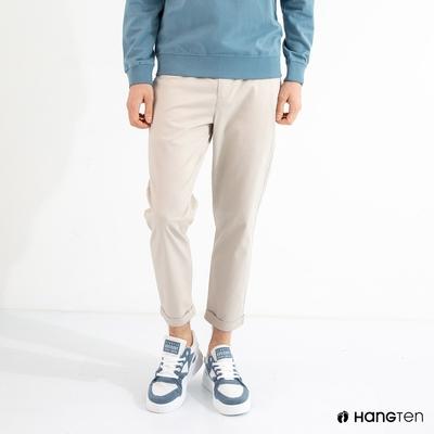 Hang Ten-男裝-TAPERED FIT錐形九分褲-灰白色