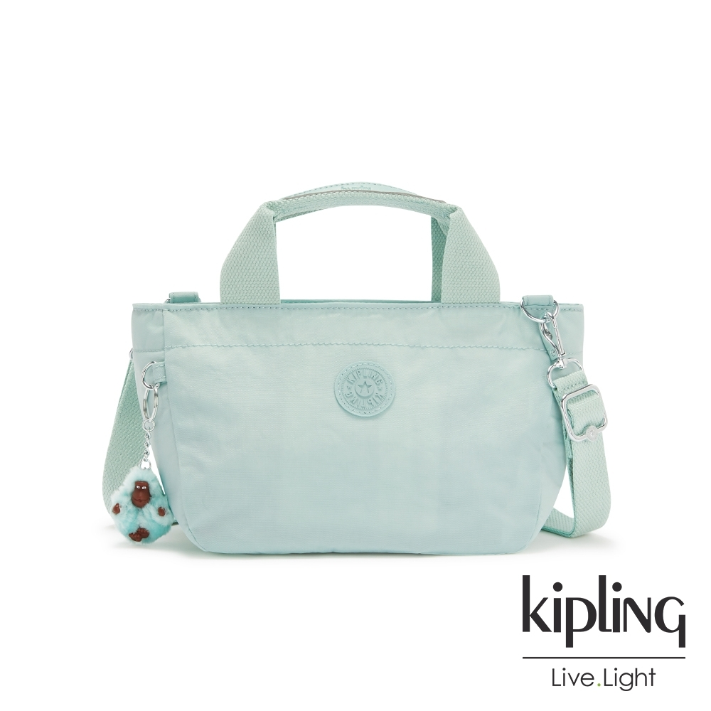 Kipling 神秘薄荷藍手提兩用斜背包-SUGAR S II