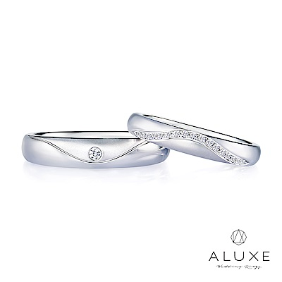 A-LUXE 亞立詩 18K金鑽石情侶對戒