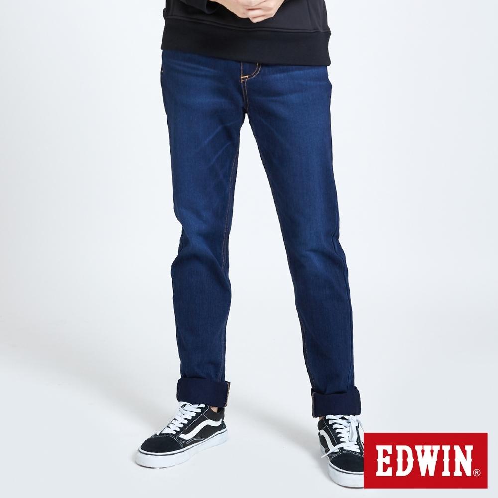 EDWIN JERSEYS 迦績 EJ7 棉中腰錐形牛仔褲-男-酵洗藍