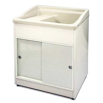 Aaronation 新型推門式塑鋼洗衣槽 GU-A2003