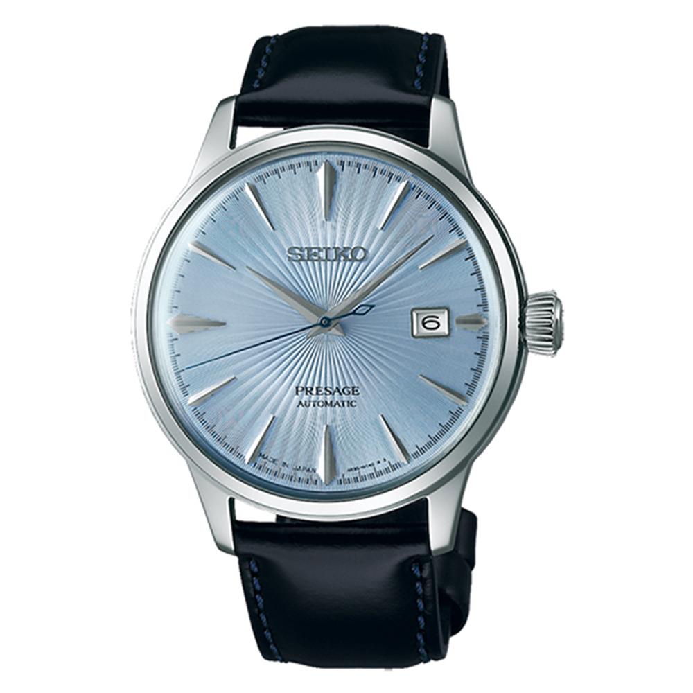 SEIKO 精工Presage 調酒師系列爵士機械錶-海藍SRPB43J1
